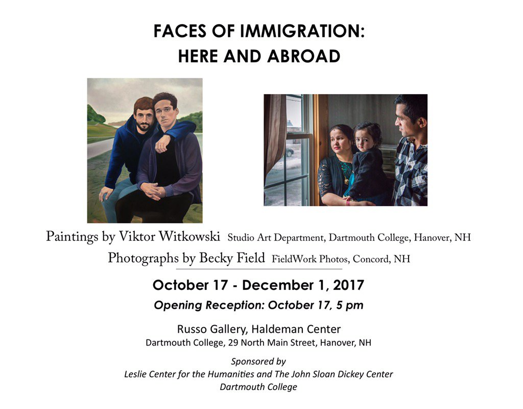 RT @thelesliecenter: Join us 5pm! Faces of Immigration: Here & Abroad Opening Reception https://t.co/9lIP504gbc @DartStudioArt @dartmouth h…