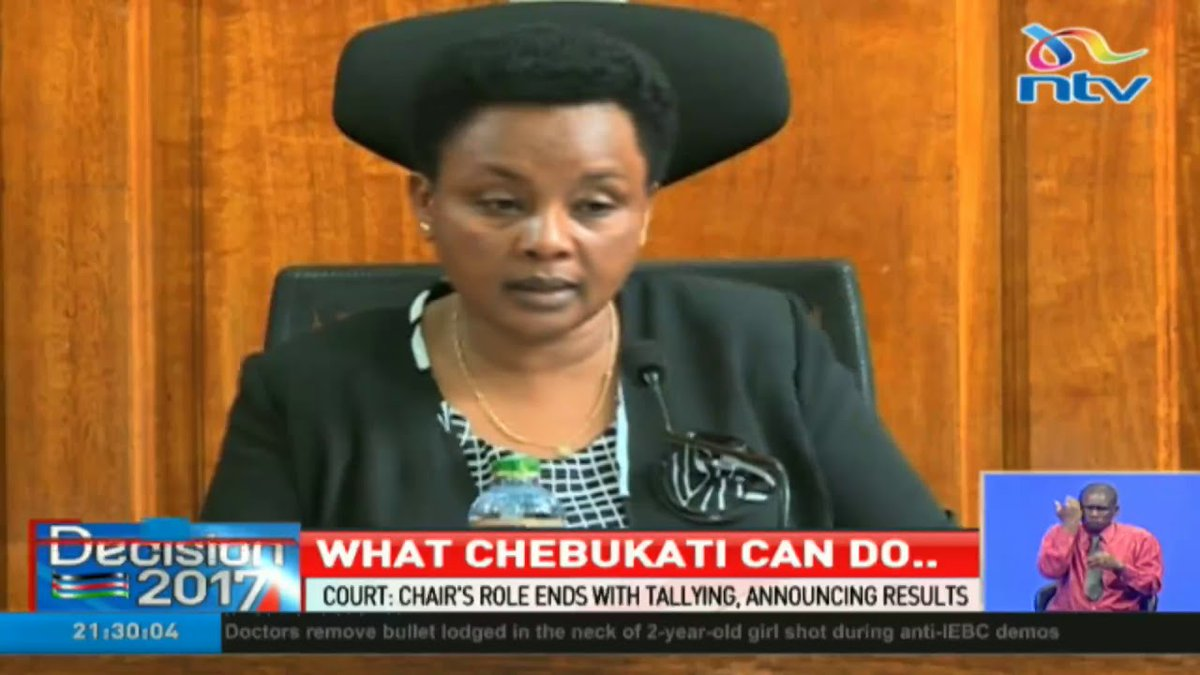 Supreme Court rules IEBC Chair can't edit presidential results