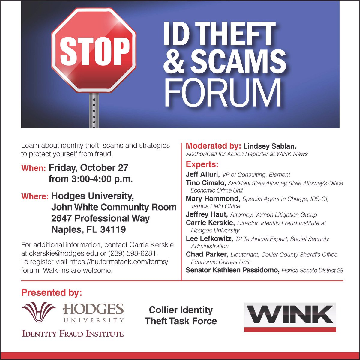 test Twitter Media - Free ID theft and scams forum 10/27/17. https://t.co/BVJCc5xnBp