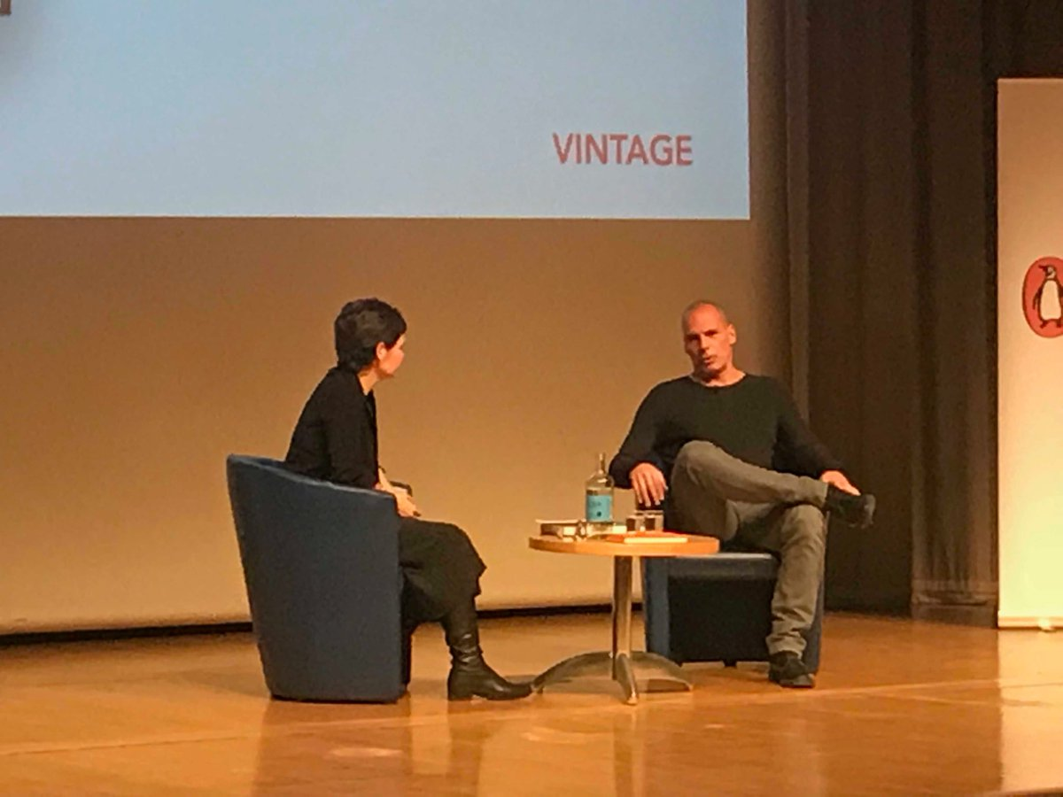 test Twitter Media - Facinsting night as @yanisvaroufakis discusses with  @KateRaworth about capitalism and how everything in society has been commodified. https://t.co/MnubApsD6P