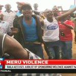 Raila accuses Jubilee of sponsoring violence against Nasa