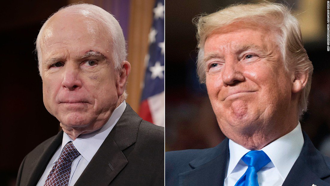 """President Trump warns Sen. John McCain: """"Be careful because at some point I fight back"""""""