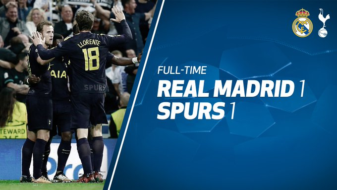 FULL-TIME: A big display at the Bernabéu and we're heading home from Madrid with a well-deserved point. #COYS https://t.co/LpgvNyR5Ik