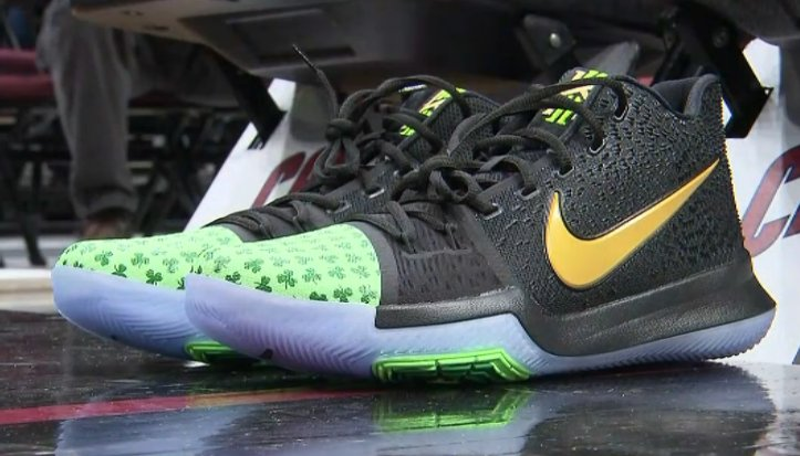6a8fa9866724 check out kyrie irving s new shoes the guard was showing off the new shamrock  nike