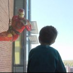Superheroes Rappel Down Children's For Patients