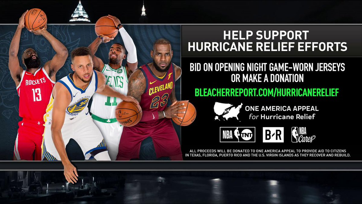 Join Turner Sports and the @NBA as we continue to support victims of the hurricane.   For more info: https://t.co/EdKy5aE8GK https://t.co/KCotEXxhRs