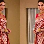 Deepika Padukone draped in a Raw Mango silk sari is 'traditional perfection'