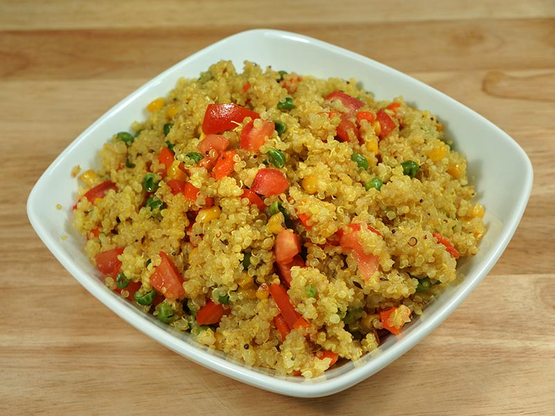 Quinoa Vegetable Pilaf (Pulav) - Manjula's Kitchen
