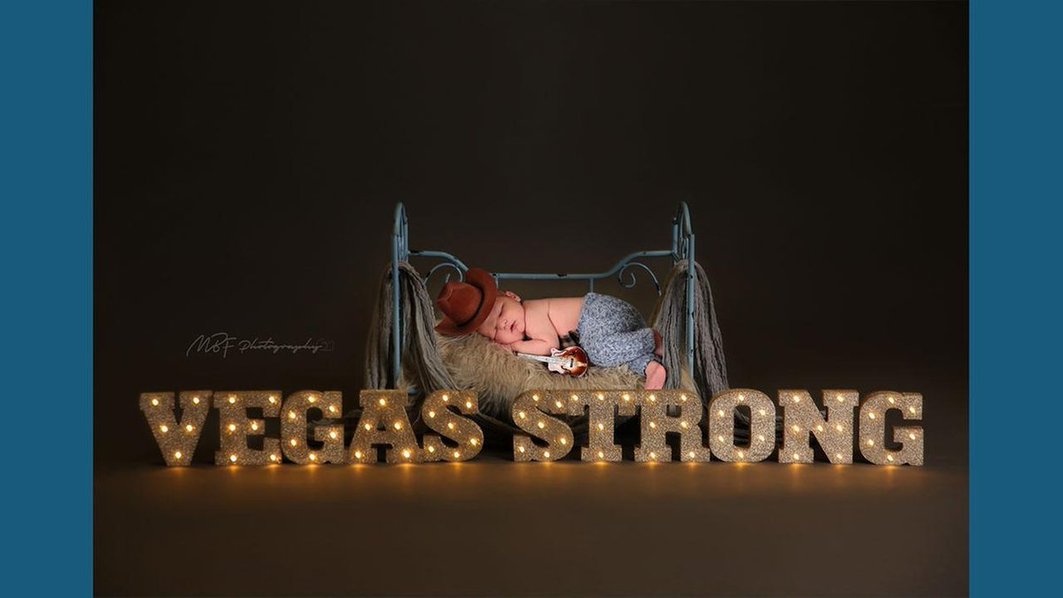Baby born two days after shooting stars in 'Vegas strong' photo shoot