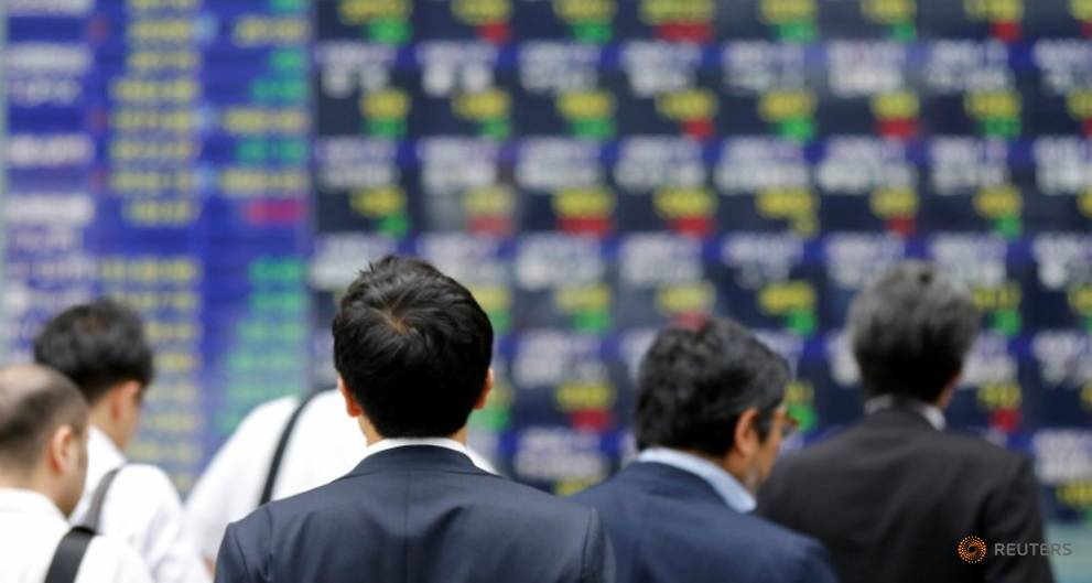 Asia shares sit on gains, await word from China's Xi