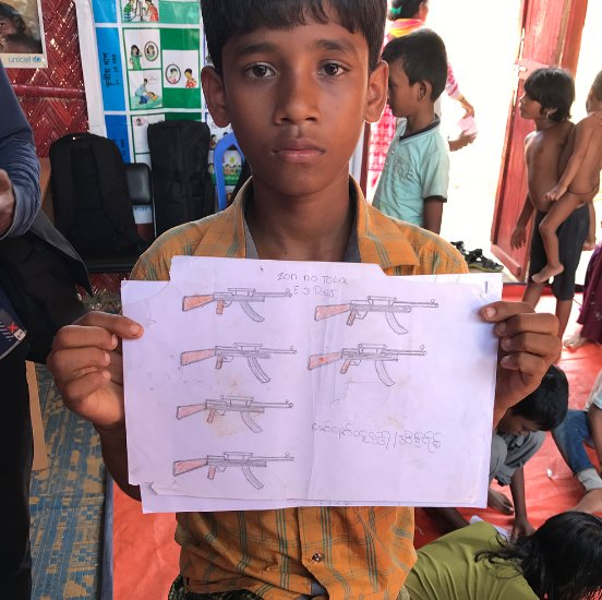 Latest from @PeterAkman: Hand-drawn pictures by Rohingya children reveal horrors
