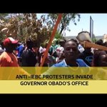 Anti - IEBC protesters invade governor Obado's office