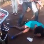 This video of a KIKUYU man giving a LADY a dog's beating will break your heart! UNYAMA