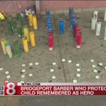 Slain barber called a hero for protecting little boy - Dauer: 35 Sekunden