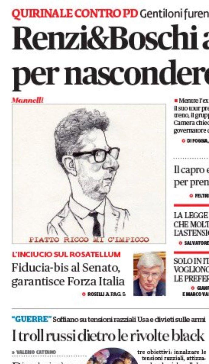 #18ottobre fiducia al Senato, garantisce forza italia https://t.co/i0BgLXuc0f