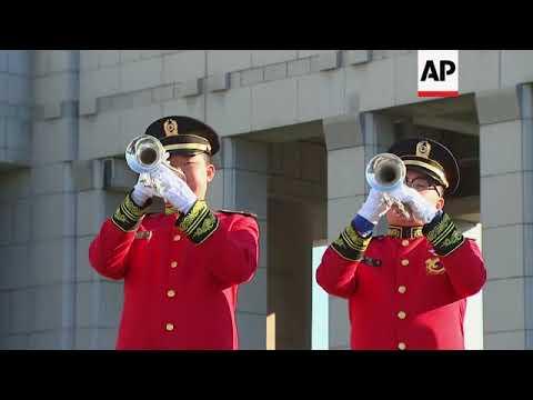 Australian ministers lay wreath at Korean War Memorial