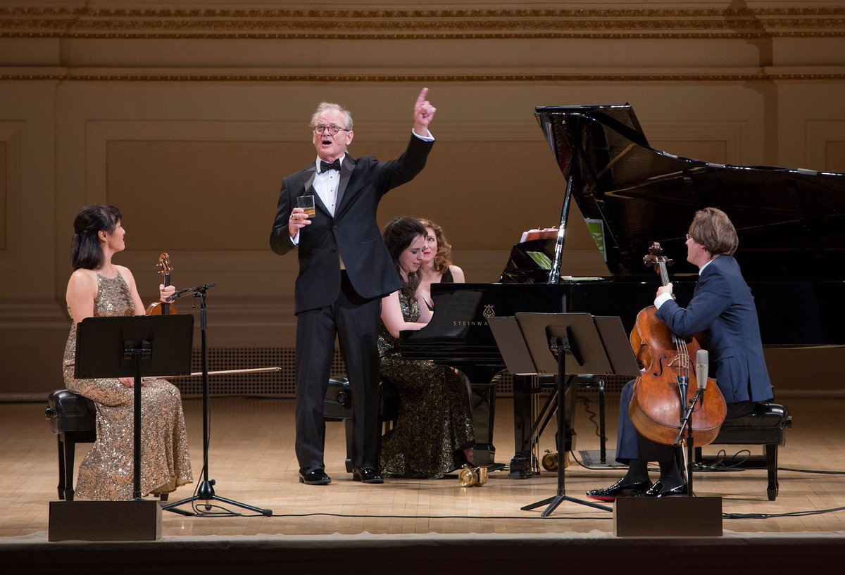 Bill Murray sang showtunes and charmed the hell out of Carnegie Hall