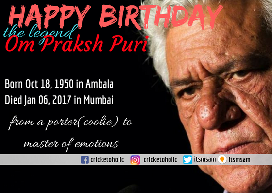 Happy Birthday Om Puri Sir. A man of creative arts.