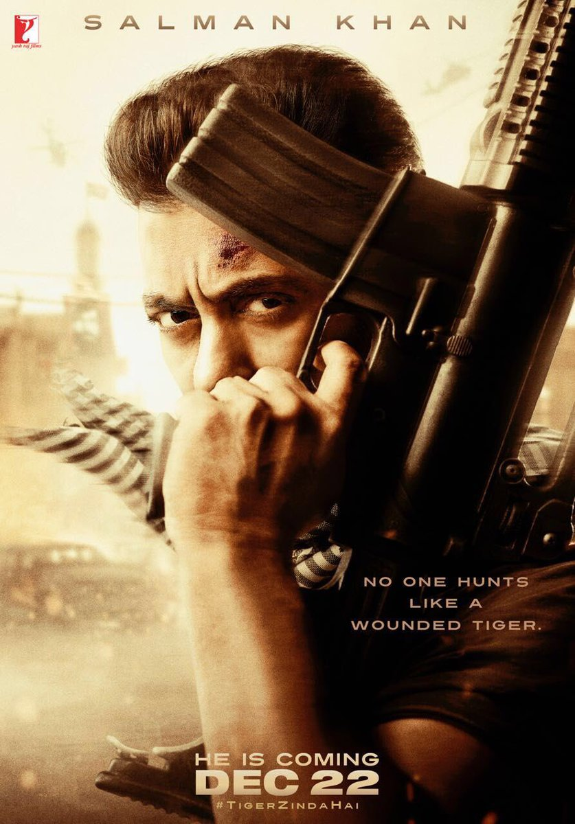 RT @SunnyShines_: No one hunts like a wounded tiger... Killer first look poster  #TigerZindaHai https://t.co/ykuJqgShwO