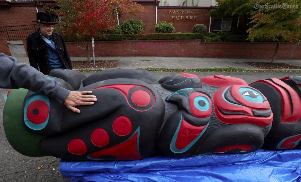 A Northwest traveling totem-pole protest targets fossil-fuel development