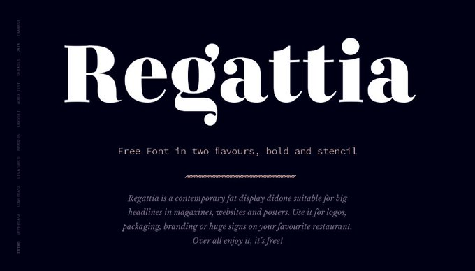 Regattia Bold Free Typefaces Freebies FreeResources FreeDownload