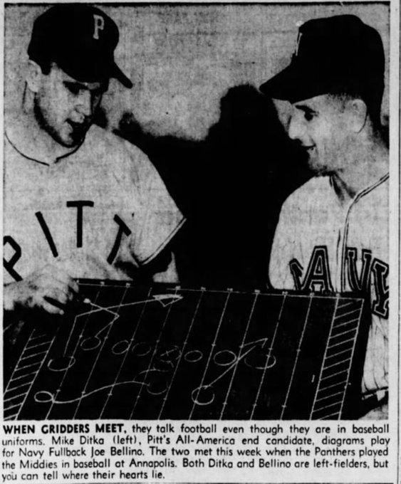 Happy 78th birthday to Mike Ditka, Eisenhower-era left fielder.