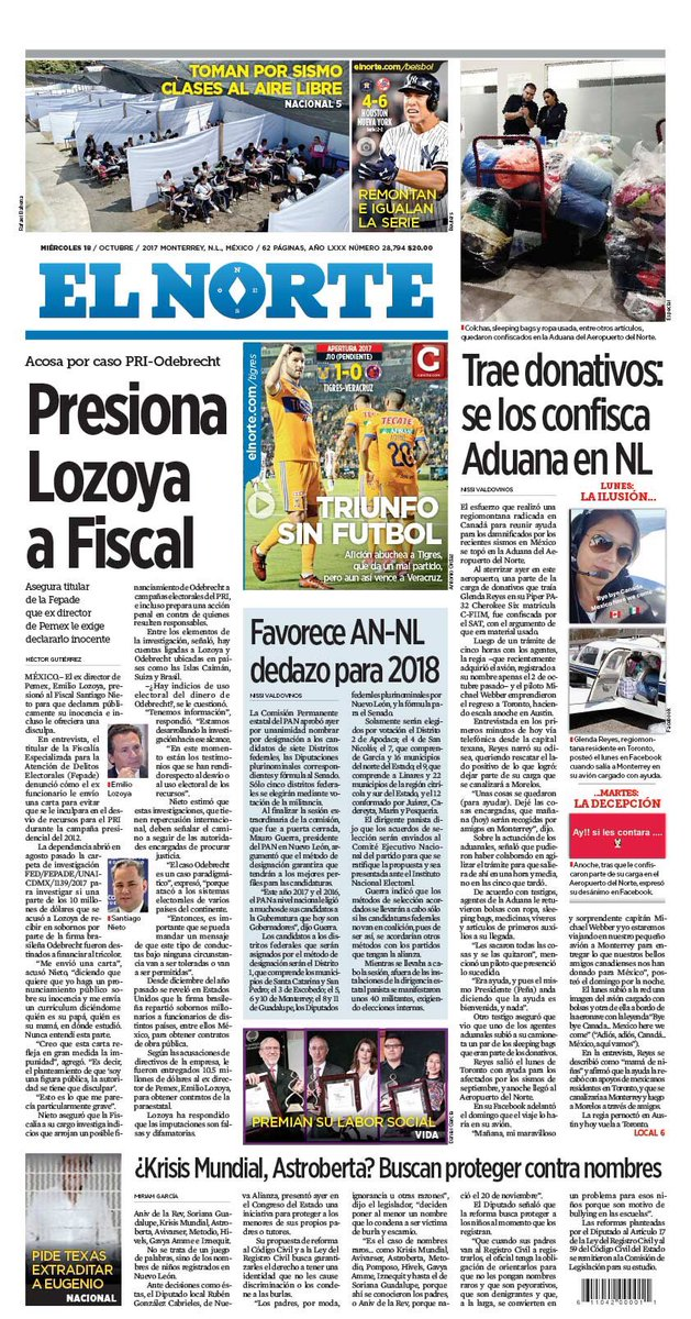 RT @mexnewz: Te presentamos las portadas de los Diarios Impresos del Paíd, hoy #FelizMiercoles  #BuenosDias 📰🗞📰🗞 https://t.co/em3qznCLkt