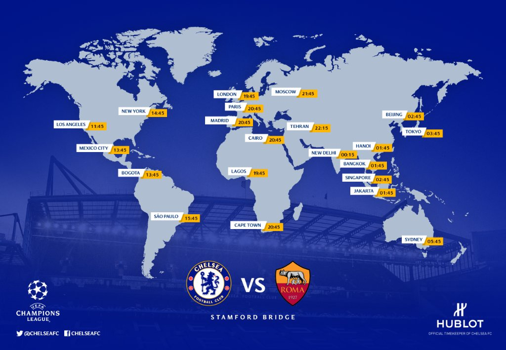 RT @ChelseaFC: The Blues are back in Champions League action!  Where will you be watching #CHEROM? 🌎 https://t.co/inq8yfJFV6