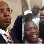 Jimmy Wanjigi emerges with a hearty laugh after police lay siege on his house