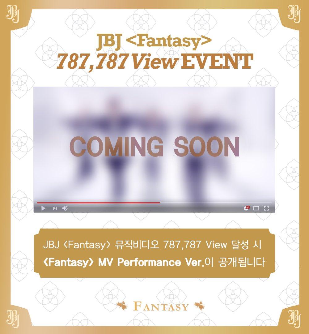 [#공지] 'Fantasy' 뮤직비디오 787,787 View 이벤트 안내  https://t.co/e21DvNz7vJ  #JBJ #FANTASY https://t.co/wTm5vIRS6e