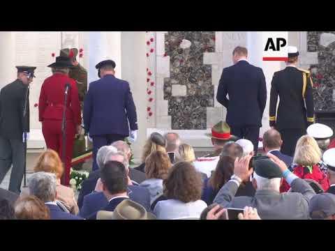 Britain's Prince William attends NZ Passchendaele commemoration