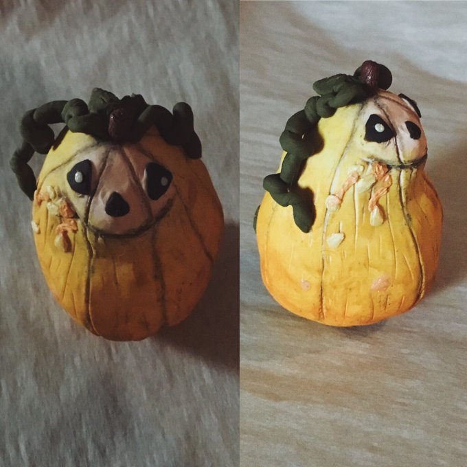 potato buddy: pumpkin version?  Idk, but it was fun to make ☺️🎃 sleep tight, peeps✨🌙 https://t.co/Jm