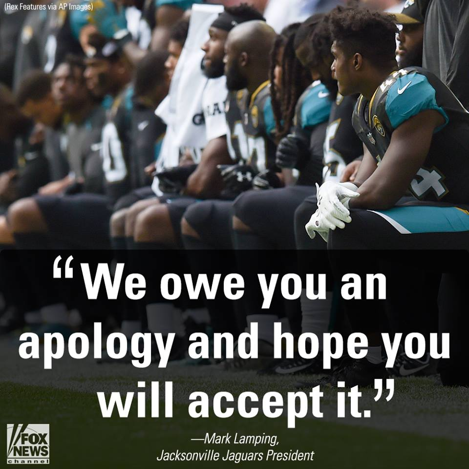 Jacksonville @Jaguars apologize to military for kneeling in London