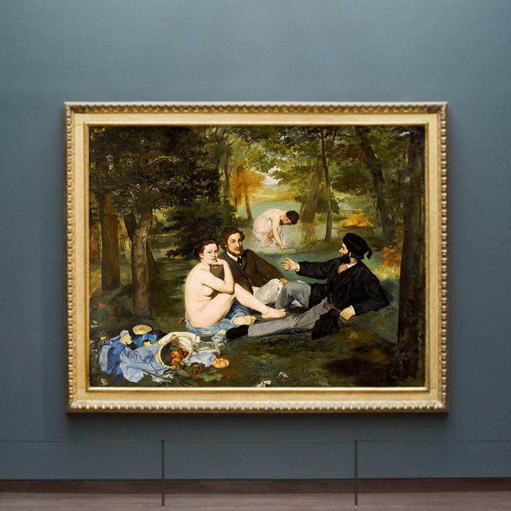 パリのオルセー美術館より──1863年作エドゥアール・マネの《草上の昼食》 https://t.co/9biD5RLjUh #LouisVuitton #LVxKoons https://t.co/L8bcx13gio
