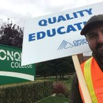 Algonquin teacher says he's walking the picket line for a chance at a full-time job