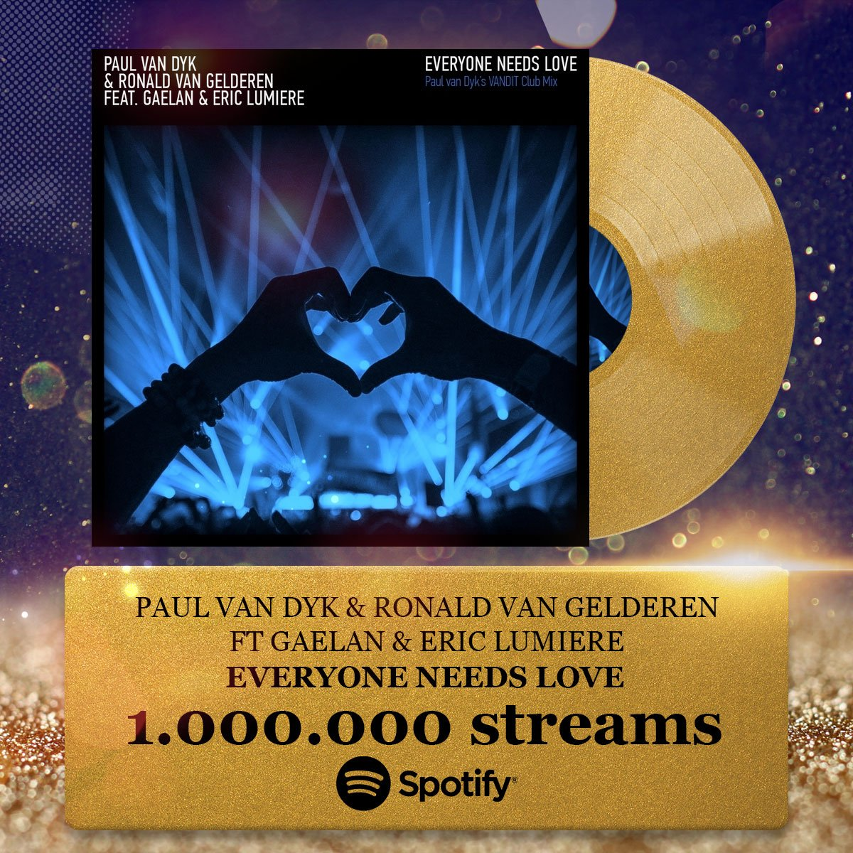 Over 1 million @Spotify steams for #EveryoneNeedsLove, the 1st single of my new album #FromThenOn https://t.co/OdWEj2Soeo