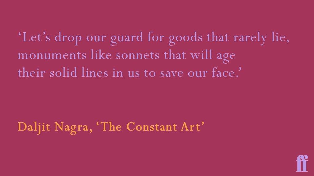 RT @FaberBooks: The Constant Art by Daljit Nagra #ThursdayThoughts #FaberPoetry https://t.co/MOtLtm1QwX
