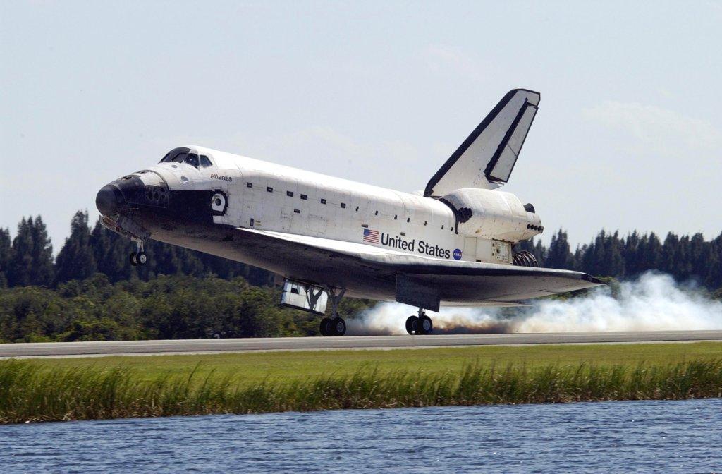 Space shuttle atlantis landed ...