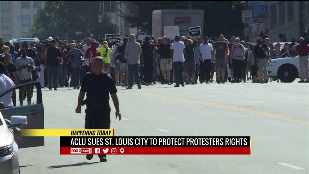 ACLU sues St. Louis City to protect rights of protesters