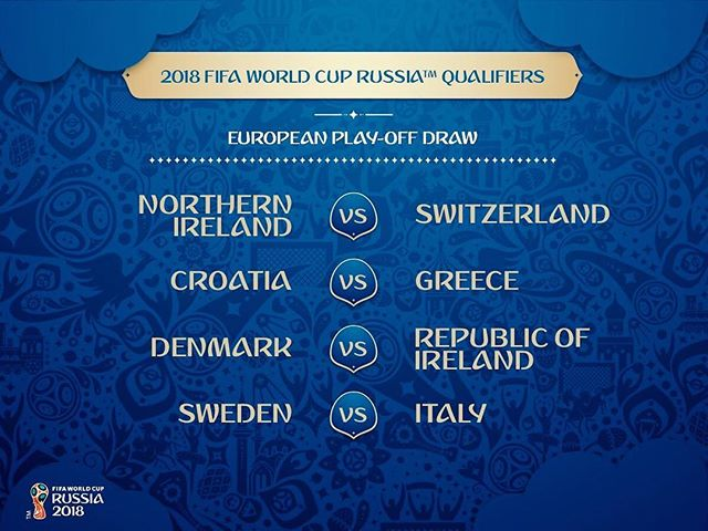 Confirmed FIFA #WorldCup European Play-Off Draw!  Who will qualify??? 📷: @fifaworldcup https://t.co/U7J4c5mf7k