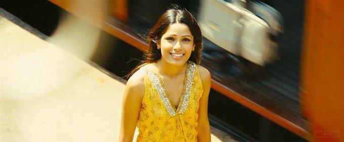 New happy birthday shot What movie is it? 5 min to answer! (3 points) [Freida Pinto, 33]