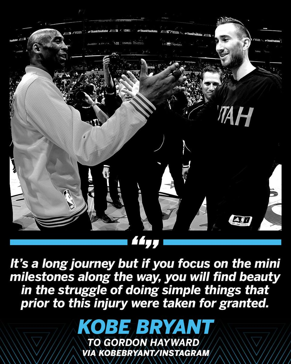RT @SportsCenter: Kobe Bryant reaches out to Gordon Hayward. https://t.co/vafeUctiX6