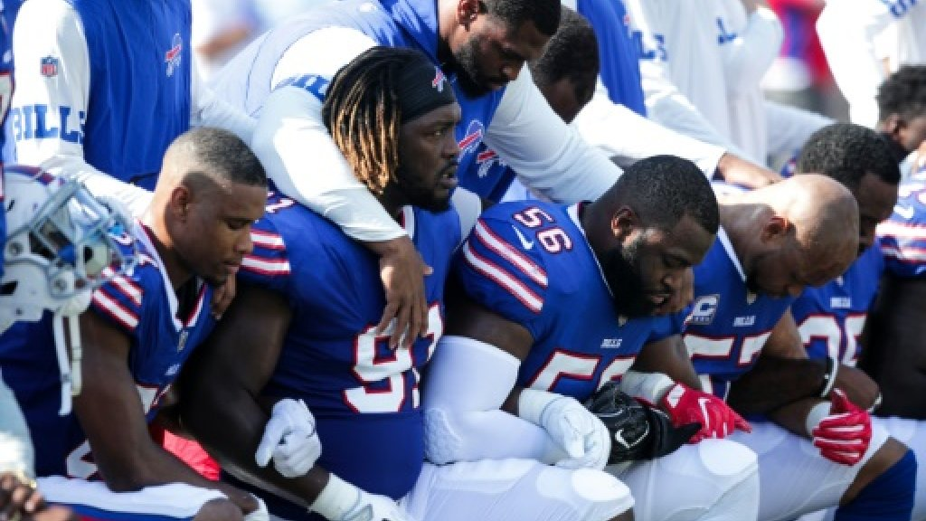Trump slams NFL for not forcing players to stand for US anthem
