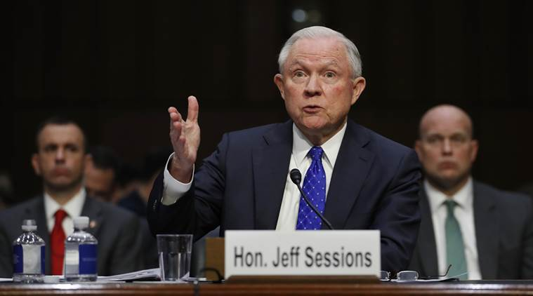 US Attorney General Jeff Sessions defends Comey firing, ties it to Hillary Clinton's email case
