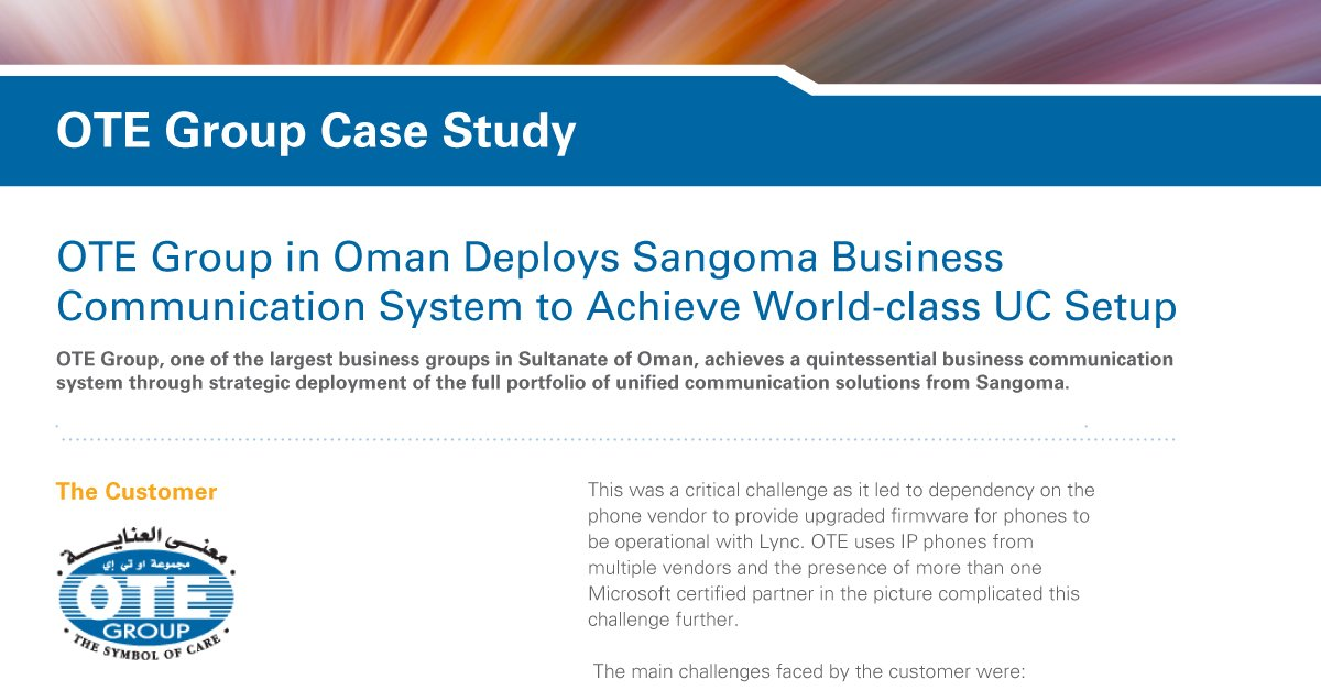 test Twitter Media - OTE Group in Oman Deploys @Sangoma Business Communication System to Achieve World-class #UC Setup. Their story at https://t.co/Vth0ag2O1i https://t.co/nUSh2DZ1c9