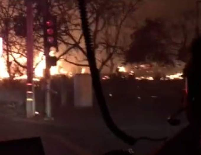 Dramatic video shows arriving Berkeley firefighters stunned by Santa Rosa fire