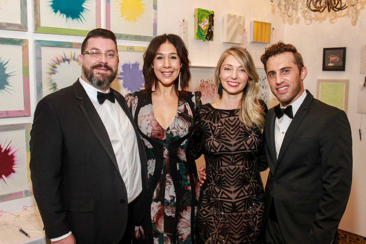Art League Houston patrons toast Lynn Goode and Trevor Doyle Hancock