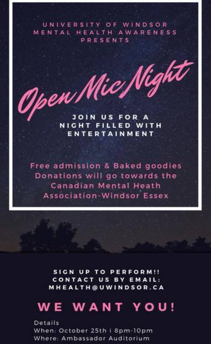 test Twitter Media - @UWMentalHealth is hosting an #OpenMic night!! #yqg #Students #greatcause Oct.25th 8-10pm Ambassador Auditorium @UWindsorLance @UWindsor https://t.co/HzdZ22hl3O
