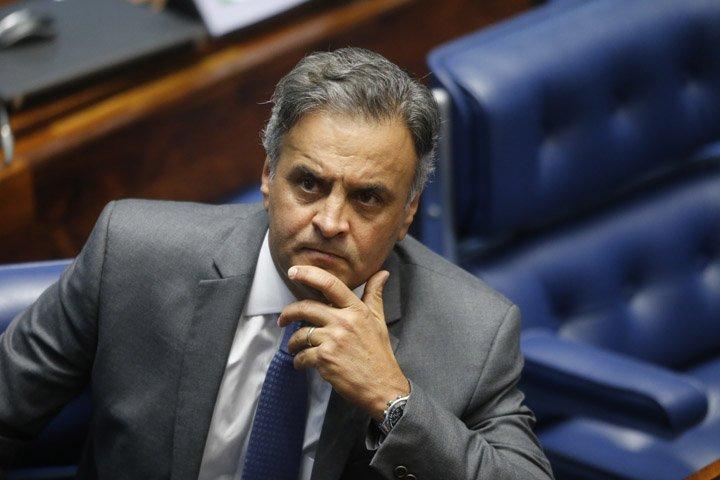 @BroadcastImagem: Aécio: fui vítima de uma criminosa armação perpetrada por empresários inescrupulosos. Dida Sampaio/Estadão