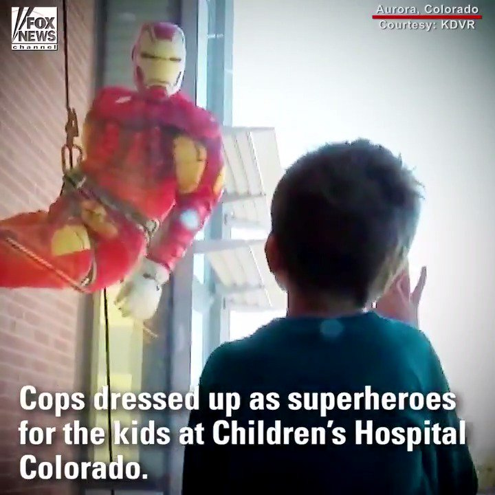 Colorado children's hospital patients receive superhero surprise from police